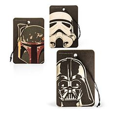 Grab a three-pack of the Star Wars Movie Poster Air Fresheners featuring a long-lasting vanilla scent because even your car is a fan.