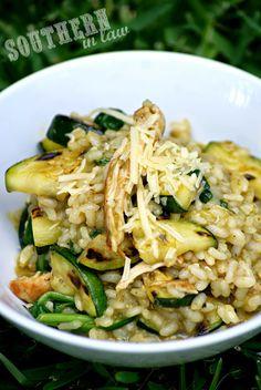 Healthy Chicken Pesto Risotto Recipe - low fat, gluten free, healthy, sugar free