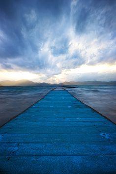 Blue Storm of Fall Lake Tazawa by Jason Arney