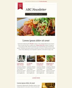 #newsletter free template