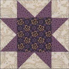 Week 11: Purple. Stars in a Time Warp 2015 quilt along with Barbara Brackman