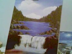 Acrylic Painting Lesson 9 How to paint a waterfall and rock wall
