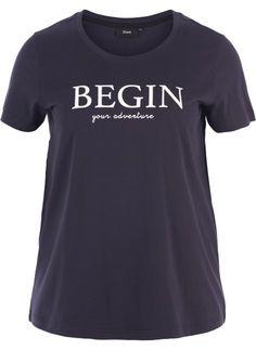 27b3ab99 T-skjorte - Kjøp i str. 42-56 online på Zizzi.no
