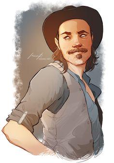 Doc Holliday from Wynonna Earp. #docholliday #wynonnaearp #timrozon #wyattearp #western #fanart