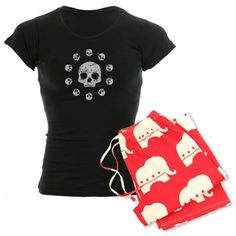 Women's Circle of Skulls Pajamas