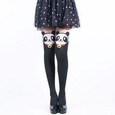 Panda San Faux Thigh High Stockings