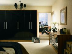 #black #gloss #wardrobes #decor #design #furniture #interior #living #bedroom #style #stylish #colours