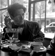 """Marcel Marcheau, the French mime who created the figure of """"Bip"""", a tragic white clown, 1951. Photographer, Erich Lessing"""