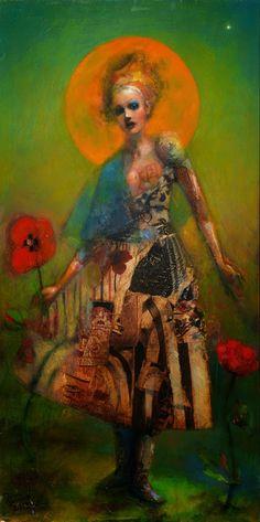 Joshua Burbank - Mixed media on wood panel | Masterpiece of Art