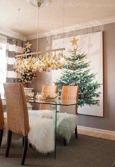 Great Christmas bauble chandelier