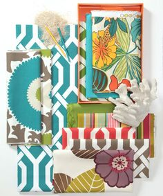 Key West Fabric Collection - pinned from Calico Corners Key West Decor, Key West Style, Calico Corners, Free Interior Design, Textiles, Fabric Wallpaper, Fabric Decor, Fabric Patterns, Mixing Patterns