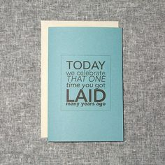 Funny Fathers Day Card Blue Sex Laid Typography by sylvannest, $5.00