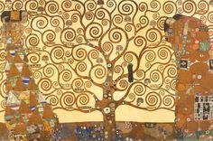 rubberboots and elf shoes: Mr Klimt trees - kindergarten style