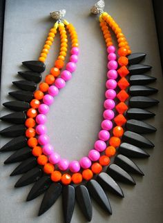 Noble House Designs- I would rock this w/ a white wife beater, small stud earrings, skinny jeans, simple flats...this necklace is the focal point of the outfit!