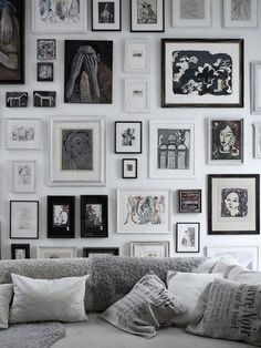 wall with picture frames