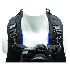 Connects the Think Tank Camera Strap to most Think Tank backpacks or harness to reduce stress on neck and shoulders KEY FEATURES:  Simplified and durable attachments for Think Tank backpacks and harnesses(excluding Perception and Urban Approach backpacks) Metal clips provide attachment points on harness for Think Tank Camera Strap Supports 1 pro or 2 standard DSLRs with lenses attached