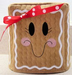 Embroider & Sew :: Gingerbread Tissue Box Cover - Embroidery Garden In the Hoop Machine Embroidery Designs