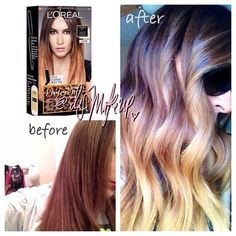 The difference between balayage ombre hair coloring guide some of you have been asking about my hair so here it is i do it myself and so can you loreal paris came out with an ombre do it yourself at solutioingenieria Image collections