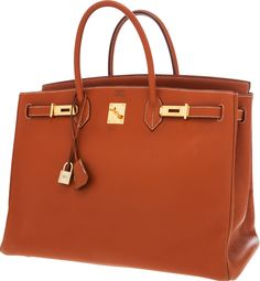 Hermes 40cm Etrusque Togo Leather Birkin Bag with Gold Hardware
