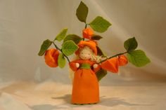 Physalis Flower Child Waldorf Inspired por KatjasFlowerfairys