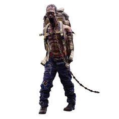 The Walking Dead Michonne's Red Pet Zombie Figure, Not Mint