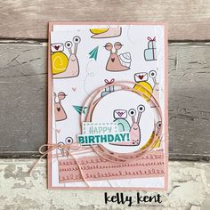 Birthdays are the new Christmas | Snail Mail | kelly kent | Bloglovin' Card Tags, I Card, Snail Cards, Stamping Up Cards, Kids Cards, Fun Cards, Craft Cards, Animal Cards, Card Maker