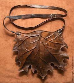 Leather leaf bag: photo tutorial Как сшить сумку из натуральной кожи