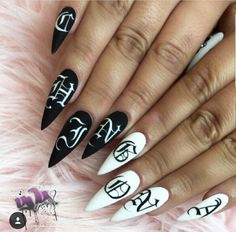 Nail Shapes - My Cool Nail Designs Gorgeous Nails, Love Nails, Pink Nails, Pretty Nails, Edgy Nails, Elegant Nails, Swag Nails, Gothic Nails, Drip Nails