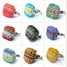Knitted rings: by twisted twee