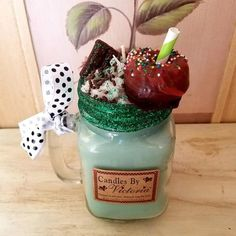 Highly Scented Candles & Wax Tarts - Milkshake Candles - Choose your favorite! Homemade Candles, Scented Candles, Candles By Victoria, Funny Candles, Wax Tarts, Mint Chocolate, Candle Wax, Burning Candle, Milkshake