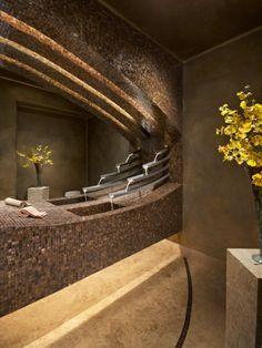 robinet cascade, salles de bains contemporaines