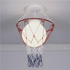 Basketball & Net Ceiling Light- Will's room?