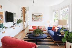 bold living room upholstery