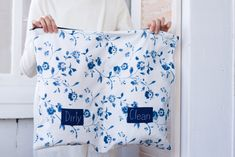Travel organizer for clothes, Dirty Clean packing organizer, blue floral pattern travel accessories, underwear organizer bag Underwear Organization, Travel Baby Showers, Honeymoon Gifts, Bachelorette Gifts, Travel Organization, One Bag, Travel Accessories, Flower Patterns, Organize