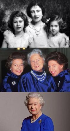 Queen Elizabeth The Queen Mother with her daughters, Elizabeth and Margaret. HM Queen Elizabeth II is now the one remaining figure of the family King George VI called The Firm. Lady Diana, English Royal Family, British Royal Families, Royal Life, Royal House, George Vi, Princesa Diana, Royal Queen, Queen Queen