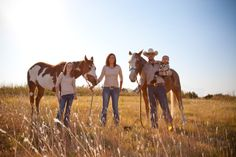 Family Portrait in the country with horses