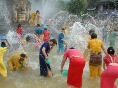 207) The Dai believe the Water-Splashing Festival washes away the dirt, sorrow and demons of the old year and brings in the happiness of the new. http://en.wikipedia.org/wiki/Xishuangbanna_Dai_Autonomous_Prefecture