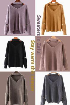 Stay warm this season   Sweaters in Zaful  