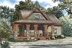 Cottage   Country   Craftsman   House Plan 82267