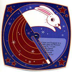 Magic Rabbit - magician show birthday party invitation