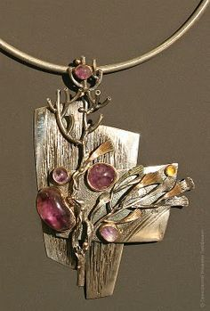 check out this amazing artist, Im in love with his work Vladimir Orjehovsky, Russian jewelry artist. Visit to see more. Jewelry Crafts, Jewelry Art, Silver Jewelry, Jewelry Accessories, Jewelry Design, Silver Ring, Silver Earrings, Metal Clay Jewelry, Pendant Jewelry