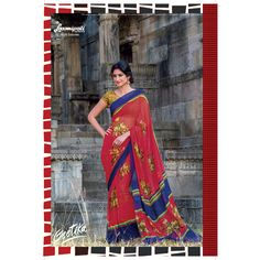 View our Red coloured Georgette Saree from #Laxmipati GEETIKA #Catalogs with best prices.  E-mail Us : info@laxmipati.com