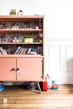 Chambre d'enfant rose terracotta