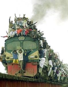 Indian train. People's everyday life (different cultures)