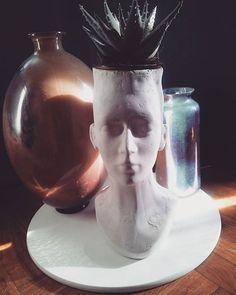 DIY head flower pot