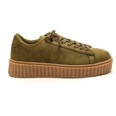 6908015a036 GREEN Jeepers Creepers Platform Sneakers ( 21) ❤ liked on Polyvore  featuring shoes