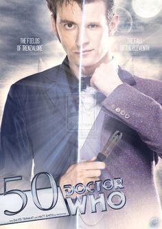 50th Anniversary Doctor Who.  10 and 11.  David Tennant and Matt Smith.