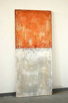 Style Your Home Today With This Amazing Orange Grey White No.1 Framed Wall Painting By Christian Hetzel For $7500.00  Discover more canvas selection here http://www.octotreasures.com  If you want to create a customized canvas by printing your own pictures or photos, please contact us.
