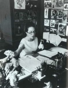 """Diana Vreeland on her job as editor: '""""I think part of my success as an editor came from never worrying about a fact, a cause, an atmosphere. It was me - projecting to the public. That was my job. I think I always had a perfectly clear view of what was possible for the public. Give 'em what they never knew they wanted.""""'"""