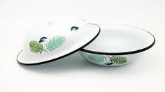 Emalco Enamelware Spring enamel soup plate